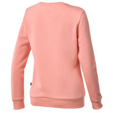 Puma Womens Essentials Logo Crew Neck Sweater Orange XS, Orange, rebel_hi-res