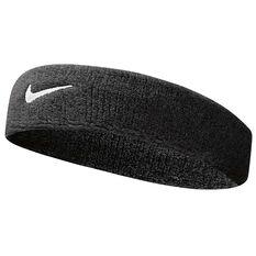 Nike Swoosh Headband Black / White OSFA, Black / White, rebel_hi-res