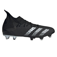adidas Predator Freak .3 SG Football Boots Black US Mens 7 / Womens 8, Black, rebel_hi-res