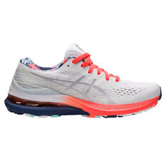 Asics GEL Kayano 28 Celebration of Sport Womens Running Shoes White/Coral US 6, White/Coral, rebel_hi-res