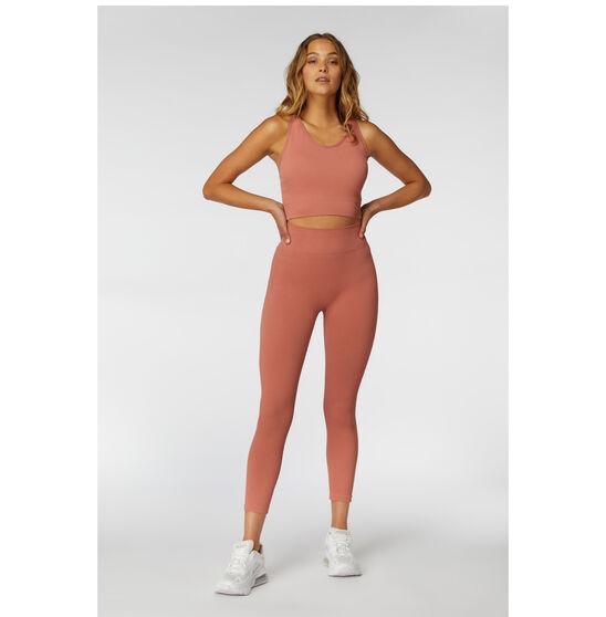 L'urv Womens Aura Seamless 7/8 Tights, Pink, rebel_hi-res