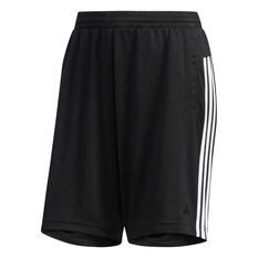 adidas Womens Waffle Capri Shorts Black XS, Black, rebel_hi-res