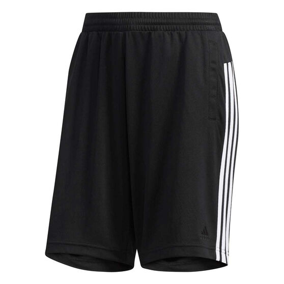 adidas Womens Waffle Capri Shorts, Black, rebel_hi-res