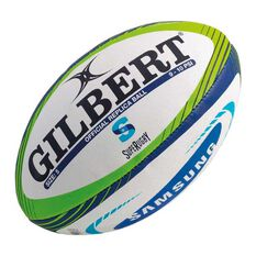 Gilbert Super Rugby Replica Ball White / Green  5, , rebel_hi-res