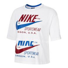 Nike Womens Icon Clash Tee White XS, White, rebel_hi-res