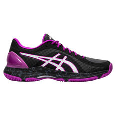 Asics Netburner Super FF Womens Netball Shoes Black / White US 7, , rebel_hi-res