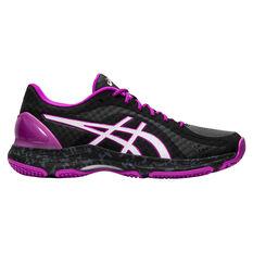 Asics Netburner Super FF Womens Netball Shoes Black / White US 7, , rebel_hi-res