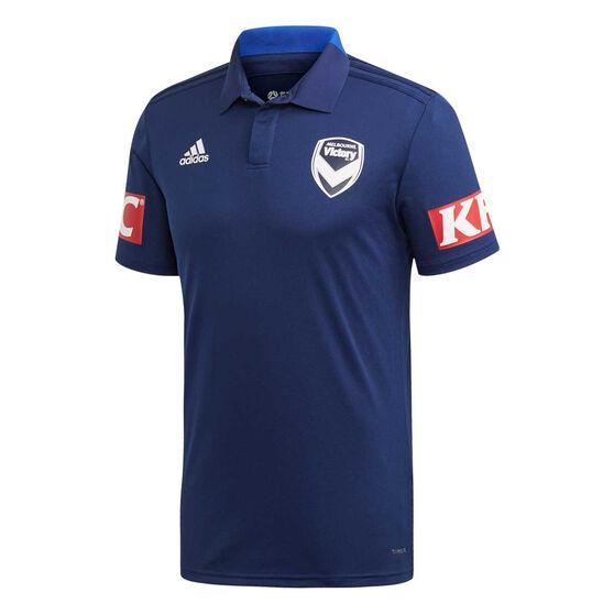 Melbourne Victory FC 2019/20 Mens Polo, Navy, rebel_hi-res