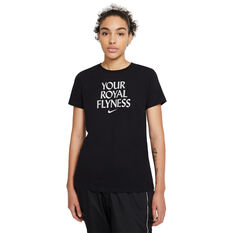 Nike Womens Dri-FIT Royal Flyness Basketball Tee Black XS, Black, rebel_hi-res