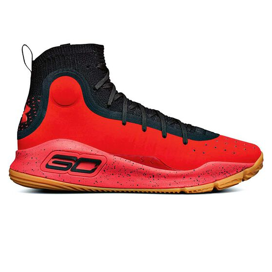 under armour curry 4 mens basketball shoes black red us 9 rebel
