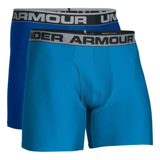 Under Armour Mens Original Series 6in Boxerjock 2 Pack, Blue, rebel_hi-res