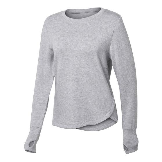 Ell & Voo Womens Amanda Crew Sweatshirt, Grey, rebel_hi-res