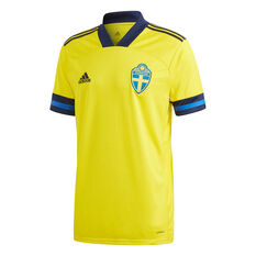 Sweden 2020 Mens Home Jersey Yellow S, Yellow, rebel_hi-res