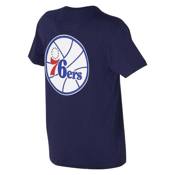 Philadelphia 76ers Mens Retro Repeat Tee, Navy, rebel_hi-res