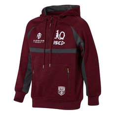 QLD Maroons State of Origin 2020 Kids Squad Hoodie Maroon 8, Maroon, rebel_hi-res