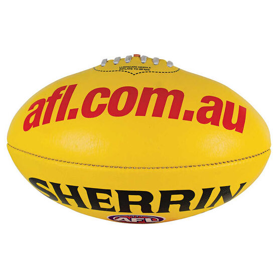 Sherrin AFL Replica Game Ball  Yellow 5, , rebel_hi-res