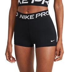 "Nike Pro Womens 365 3"" Shorts, Black, rebel_hi-res"