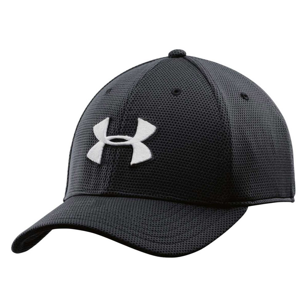 bada3343852 Under Armour Mens Blitzing Stretch Fit Cap Black   White M   L Adult ...