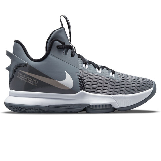 Nike LeBron Witness 5 Basketball Shoes, Grey, rebel_hi-res