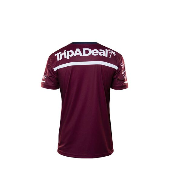 Manly Warringah Sea Eagles 2020 Kids Training Tee Maroon 14, Maroon, rebel_hi-res