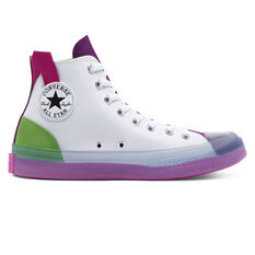 Chuck Taylor All Star CX Colourblocked High Top Mens Casual Shoes White/Green US 3, White/Green, rebel_hi-res