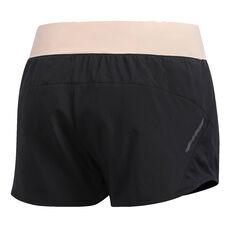 adidas Womens Run It 3in Shorts Black XS, Black, rebel_hi-res