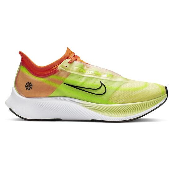 Nike Zoom Fly 3 Womens Running Shoes, Green / Black, rebel_hi-res
