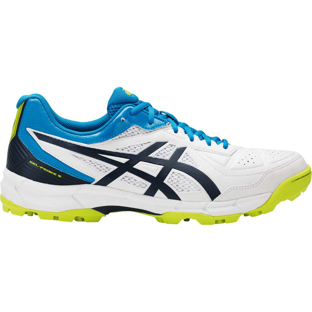 5dba95d65951 Asics Gel Peake 5 Mens Cricket Shoes White   Blue US 8