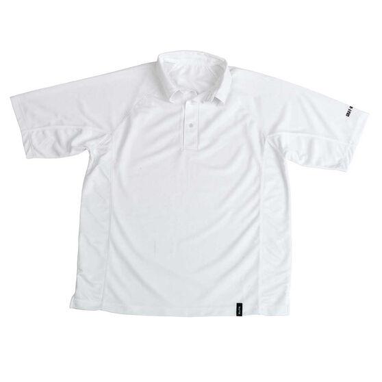 Gray Nicolls Elite Mid Sleeve Junior Cricket Shirt, White, rebel_hi-res
