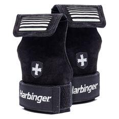 Harbinger Lifting Grips 2 in 1 Black S / M, Black, rebel_hi-res