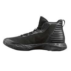 Under Armour Jet 2018 Kids Basketball Shoes Black US 4, Black, rebel_hi-res
