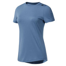 Reebok Womens Elements Tee Blue XS, Blue, rebel_hi-res