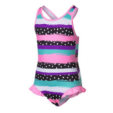 Tahwalhi Toddler Girls Polka Stripes Swimsuit Pink 3, Pink, rebel_hi-res