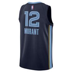 Nike Memphis Grizzlies Ja Morant 2021/22 Mens Icon Jersey Navy S, Navy, rebel_hi-res