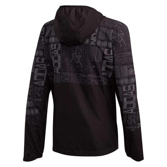 adidas Mens Own The Run Jacket, Black, rebel_hi-res