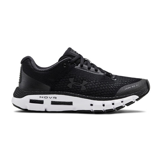 Under Armour HOVR Infinite Womens Running Shoes, Black / White, rebel_hi-res
