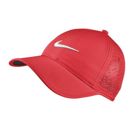 Nike Womens Perforated Adjustable Golf Cap Crimson OSFA, , rebel_hi-res