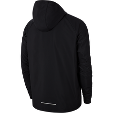Nike Mens Essential Graphic Running Jacket, Black, rebel_hi-res