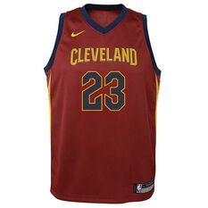 Nike Cleveland Cavaliers LeBron James 2018 Kids Swingman Jersey Team Red S, Team Red, rebel_hi-res