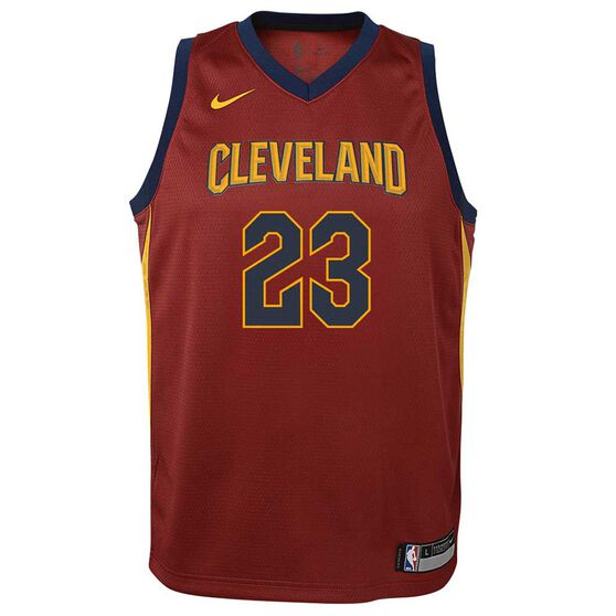 Nike Cleveland Cavaliers LeBron James 2018 Kids Swingman Jersey Team Red S 89ef75f246525