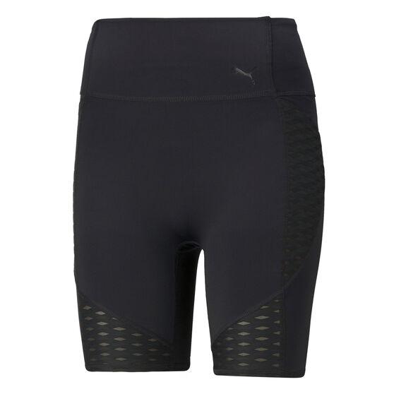 "Puma Womens Flawless 7"" Training Shorts, Black, rebel_hi-res"