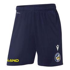 Parramatta Eels 2021 Mens Training Shorts Blue S, Blue, rebel_hi-res
