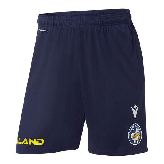 Parramatta Eels 2021 Mens Training Shorts, Blue, rebel_hi-res