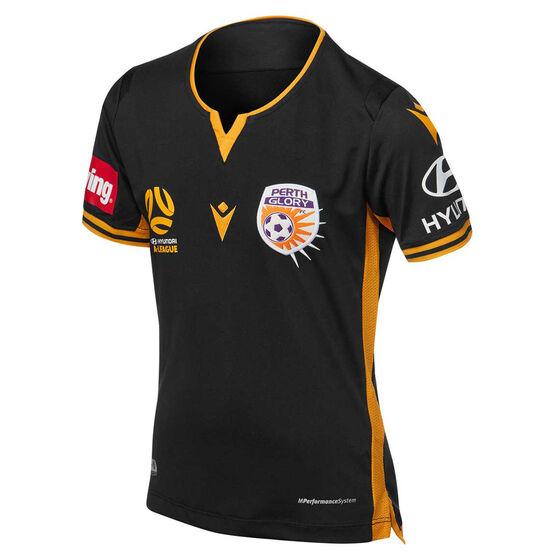 Perth Glory 2019/20 Youth Third Jersey, Black, rebel_hi-res