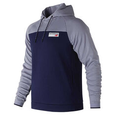 New Balance Mens Athletic Pullover Hoodie Navy / Grey S, Navy / Grey, rebel_hi-res