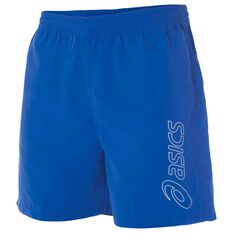 Asics Mens Essential Logo 5in Training Shorts Blue XS Adult, Blue, rebel_hi-res