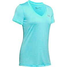 Under Armour Womens UA Tech Twist Tee Blue XS, Blue, rebel_hi-res