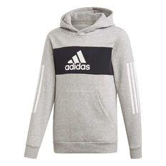 adidas Boys Pullover Sweatshirt Grey / Black / White 6, , rebel_hi-res
