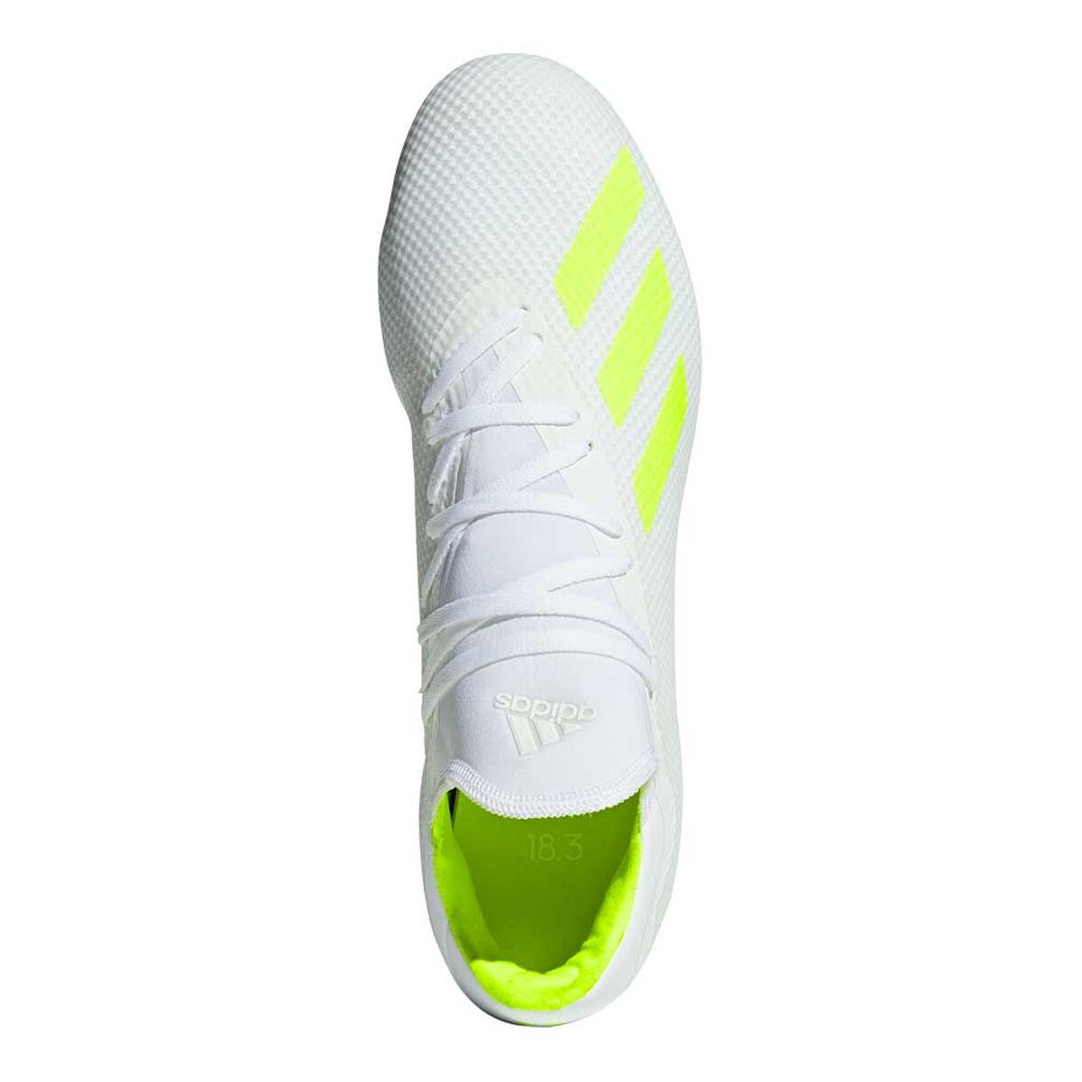 adidas X 18.3 Football Boots White Yellow US Mens 8 Womens 9