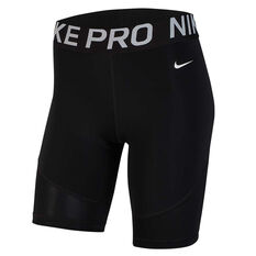 Nike Pro Womens 8in Shorts Black XS, Black, rebel_hi-res